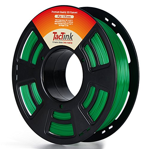 Green 3D PLA Filament - 1.75 1KG Spool for 3D Printing, Dimensional Accuracy of +/- 0.05mm