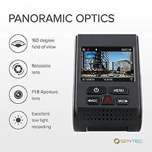 Spy Tec A119 Version 2 Car Dash 60 FPS 1440p Camera G Sensor Wide