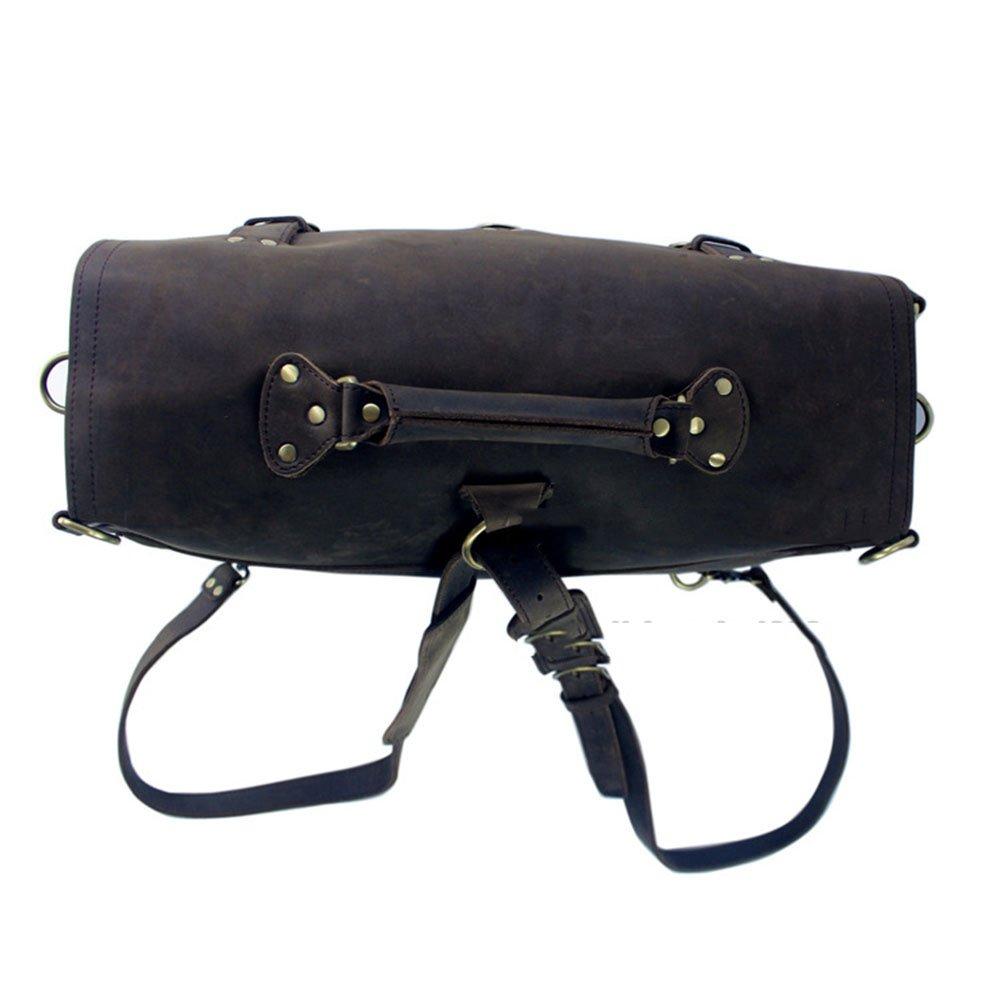 Yangjiaxuan Men Travel Duffel Bag Leather Luggage Bag Handbag Shoulder Bags Crossbody Bag Traveling Briefcase Color : Brown