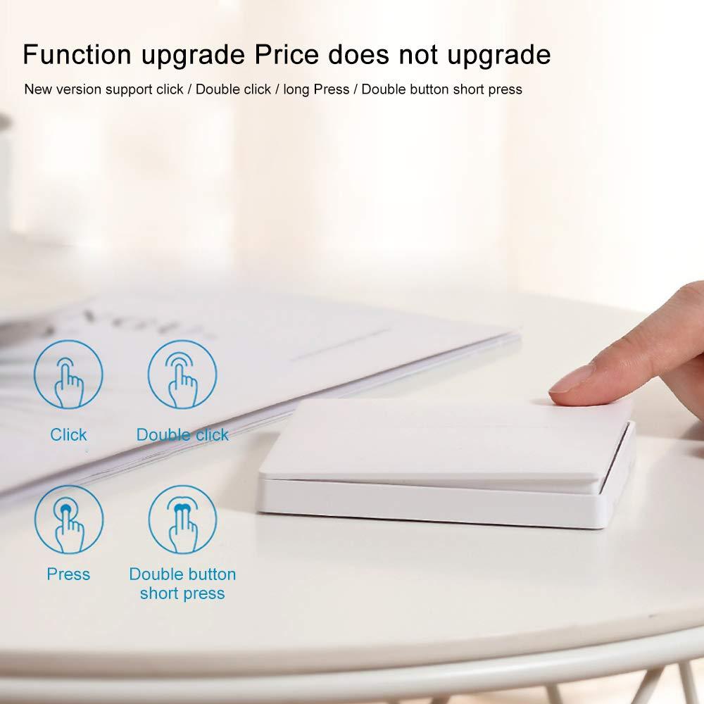 Interruptor WiFi,para Xiaomi Aqara Interruptor Tactil Sensor Interruptores Inalambricos Inteligente para Hogar Compatible con Android y la Aplicaci/ón iOS para Smart Home Doble Enlace