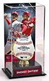 Sports Memorabilia Shohei Ohtani Los Angeles Angels Gold Glove Display Case with Image - Baseball Free Standing Display Cases