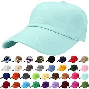 Falari Baseball Cap Hat 100% Cotton Adjustable Size Aqua Blue 1821 ... 96c8eeaca7f