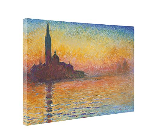 Niwo Art (TM) - Dusk in Venice, by Claude Monet - Oil (Dusk Art Print)