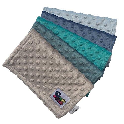 Baby Boys 5 Pack Minky Dot Burp Cloths - Shades ()