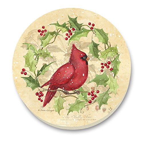 Holly Casserole (CounterArt Stone Trivet, Cardinals and Holly)