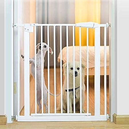 Huo Interior Blanco Metal Puertas de Seguridad Pet Gate Extra Ancho Puerta de La Escalera para Puertas Pasillos Escalera (Size : 157-166.9cm): Amazon.es: Hogar