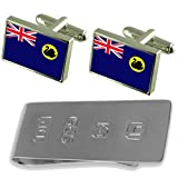 Western Australia Flag Cufflinks & James Bond Money Clip