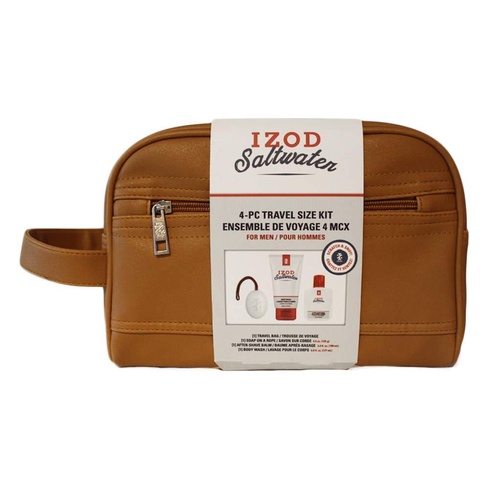 IZOD Saltwater Dopp Kit, 4-piece Men's Toiletry Bag