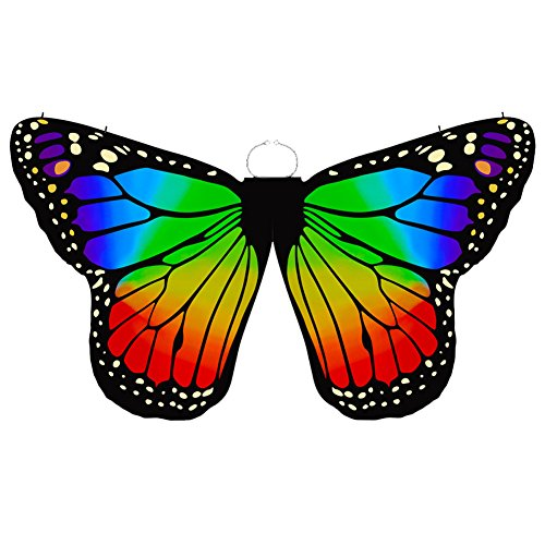 Wgwioo Belly Dance Hand Wings Butterfly Angel Colored For Child,Rainbow,Children
