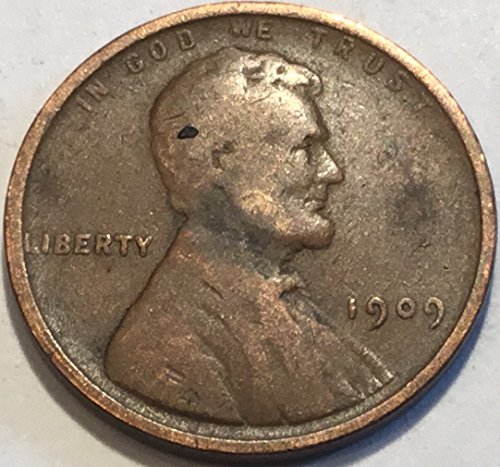 1909 Lincoln Wheat Cent Penny Very Good Details 1909 Lincoln Cent