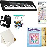 Homeschool Music - Learn to Play the Piano Pack (My First Worship Book Bundle) - Includes Casio CTK 2550 Keyboard w/Adapter, learn 2 Play DVD/Book, Books & All-Inclusive Learning Essentials