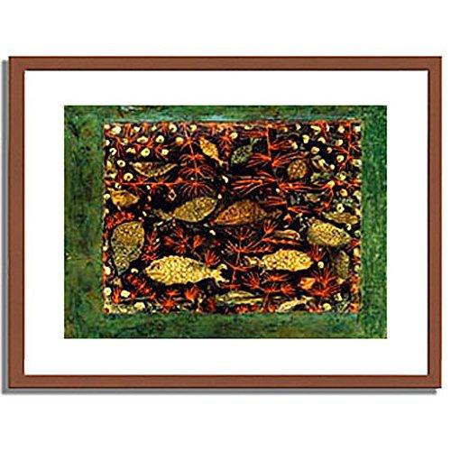 パウルクレー 「Aquarium. 1927-8. 」 インテリア アート 絵画 壁掛け アートポスターフレーム:木製(茶) サイズ:M(306mm X 397mm) B00MSW9B3U 2.M (306mm X 397mm)|1.フレーム:木製(茶) 1.フレーム:木製(茶) 2.M (306mm X 397mm)