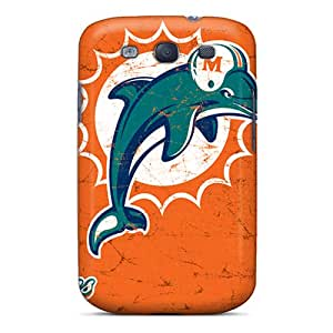 Protector Hard Phone Cover For Samsung Galaxy S3 With Customized HD Miami Dolphins Skin SherriFakhry