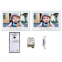 MT Series Video Intercom Systems Kit 2 Monitors Single Button Door Camera