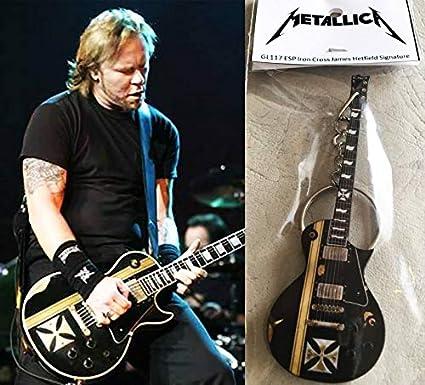 Hammett Metallica Keychain Guitar Esp Ouija Black K