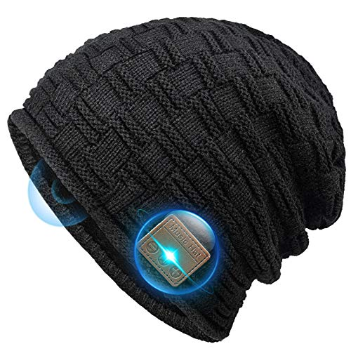 Bluetooth Beanie Gifts for Men and Women, Stocking Stuffers Beanie Hats with Bluetooth Headphones for Outdoor Sports, Running, Skating, Heartwarming fit for Mens Women Mom Girls Wife