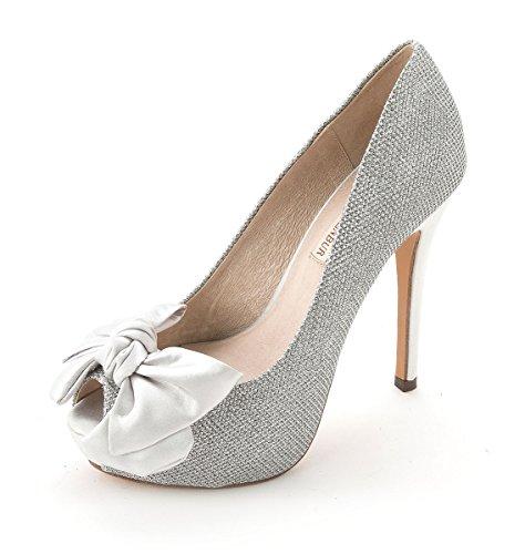 Menbur - Zapatos de vestir para mujer plata
