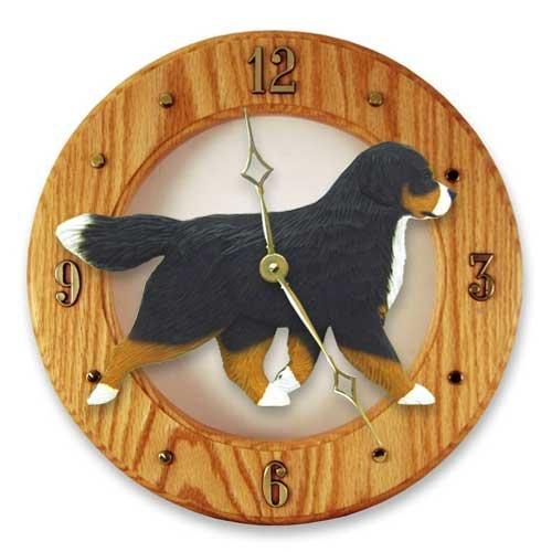 Michael Park Bernese Mountain Dog Wall Clock in Light Oak by (Wall Clocks Oak Light)