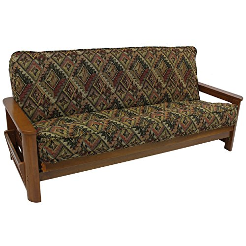 Futon Cover Palm - Blazing Needles Patterned Tapestry Double Corded 8