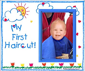 27d00d2683 Amazon.com   My First Haircut! - Picture Frame Gift   Childrens ...