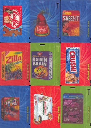 WACKY PACKAGES ANS 9 2011 TOPPS MOTION BAG TAGS INSERT CARD SET 1 TO ()