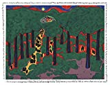 Signed 2004 Faith Ringgold Coming to Jones Road Under a Blood Red Sky #5 Serigraph