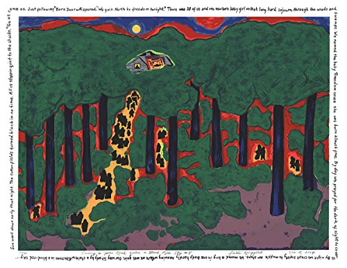 Signed 2004 Faith Ringgold Coming to Jones Road Under a Blood Red Sky #5 Serigraph by Ringgold, Faith