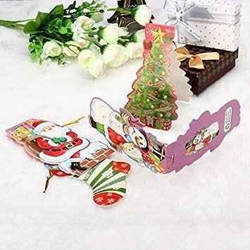 Amazon Com Mini Gift Card With Hang Strap Christmas Tree Diy