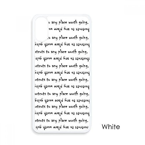 Inspirational Quote About Path by Beverly Sills for iPhone X Cases White Phonecase Apple Cover Case Gift