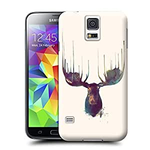 Unique Phone Case Animal painting patterns Moose Hard Cover for samsung galaxy s5 cases-buythecase