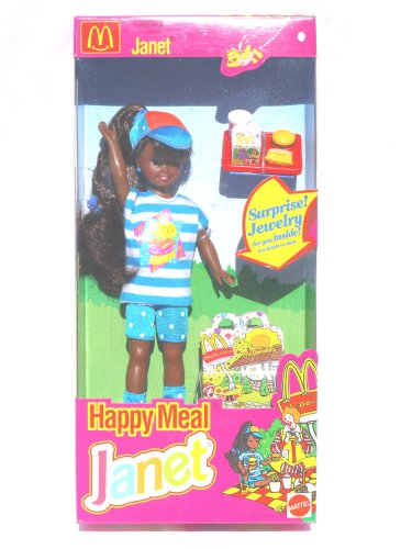 Mattel Barbie Happy Meal JANET (1993)