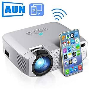 HWUKONG Mini proyector, AUN LED DracoLight, Video Beamer ...