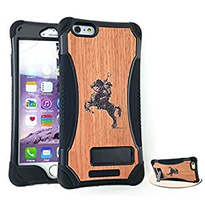 Kool Kase Kicker Case Apple Iphone 6 Plus Bumper Kick Stand Wood Cover AT&T, T-Mobile, Sprint, Verizon, Boost Mobile, U.S Cellular, Cricket by Maris's Diary