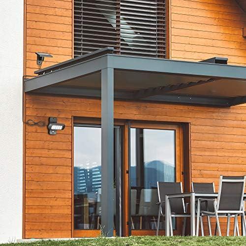 B.K.Licht Foco de exterior con panel solar y detector de movimiento y oscuridad I 6.500K I IP44 I Foco para jardin I patio y garaje: Amazon.es: Iluminación