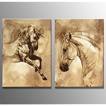 Youkuart hq0016 canvas wall art horse art prints pictures foal posters home decor interiors