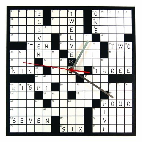 DCI-Powder-Coated-Metal-Crossword-Puzzle-Clock-11-12-Square