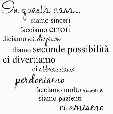 Bobin@Adesivo Parete Murale Frase in Italiano Soggiorno Camera da Letto\ sticker da muro (40 x 5 x 5 cm)