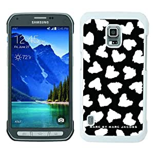 Marc by Marc Jacobs 17 White Abstract Custom Design Samsung Galaxy S5 Active Protective Phone Case
