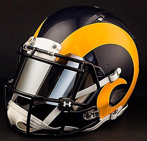 Riddell Speed LOS ANGELES RAMS NFL REPLICA Football Helmet with MIRRORED Eye Shield/Visor by Riddell