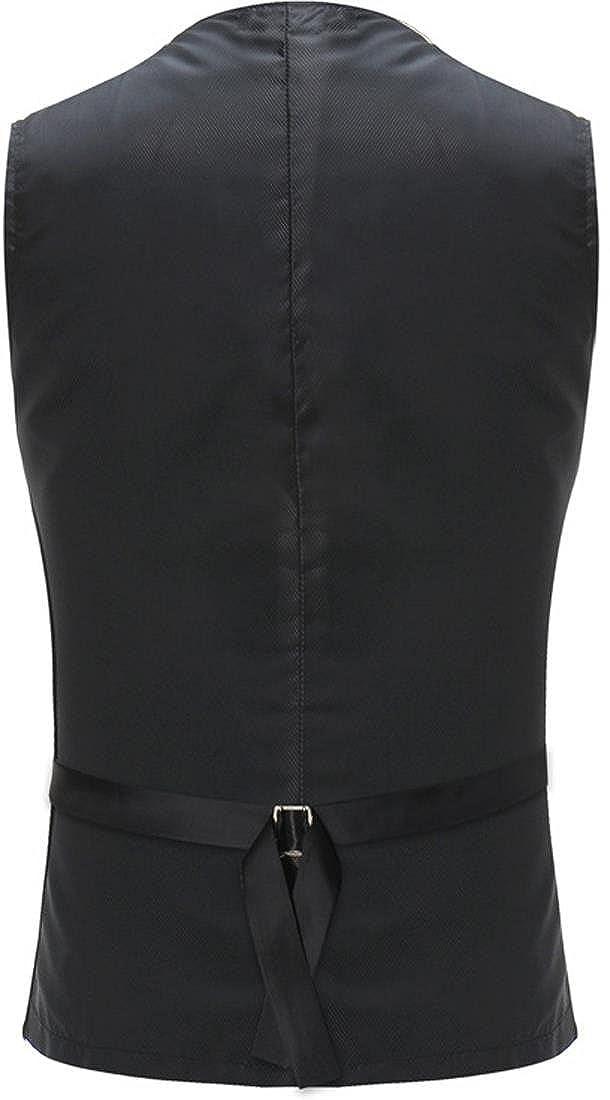 Sportides Mens Shiny Nightclub Waistcoat Gilet Gentleman Slim Vest Suits Blazer JZA156