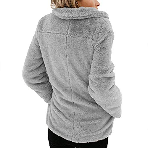 Manteau Coat Femmes Femme Chaud Gris Sweater Veste Cardigan Outerwear Revers ASSKDAN Hooded 0xgFqRwq