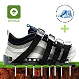 Lawn Aerator Shoes 2018 Upgraded with 4 Adjustable Straps and Metal Buckles/1Pack Rain Boots For Aerating Lawn or Yard