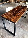 reclaimed wood desk UMBUZÖ Solid Reclaimed Wood & Metal Desk