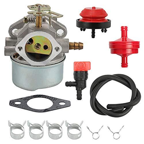 Wellsking 640052 Carburetor for Tecumseh HMSK80 HMSK85 HMSK90 8hp 9hp 10hp LH318SA LH358SA for Snow Blower Generator Chipper Shredder 640054 640349 Carb ()