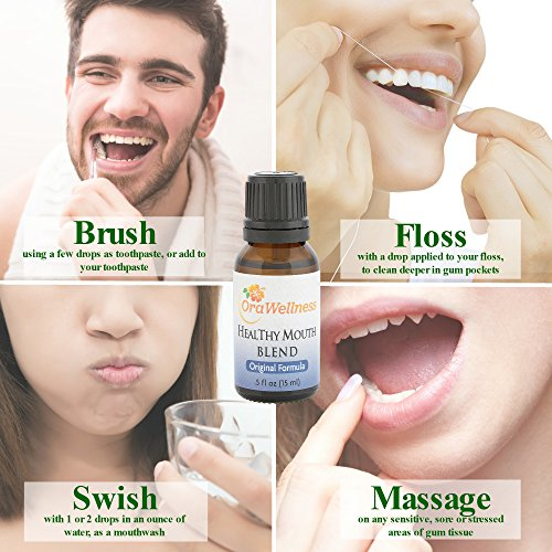 OraWellness HealThy Mouth Blend Tooth Oil, Organic Toothpaste & Mouthwash Alternative With Clove Oil Promotes Healthy Teeth & Gums, 1 Pack by OraWellness (Image #4)