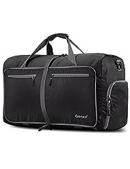 Gonex 80L Foldable Travel Duffle Bag Water & Tear Resistant Black