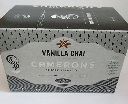 Cameron's Vanilla Chai Single Serve 12 count Black (12 Black Single)