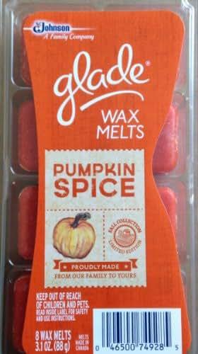 Glade Wax Melts, Pumpkin Spice, 8 Wax Melts (Pack of 3)