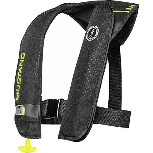 (Mustang Survival Corp M.I.T. 100 Auto Activation PFD, Black/Fluorescent Yellow Green)