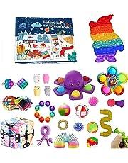 Pop Bubble Fidget Adventskalender Speelgoedset, 24DAGEN Kerst Aftelkalender Sensorische Fidget Pack, Anti-Angst Fidget Box, Verrassingsgeschenken Party Favor (24pcs2, OneSize)